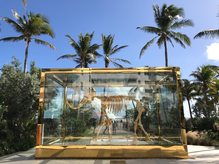 Glittering Extinction - Damien Hirst's Gold Woolly Mammoth at the Faena Hotel in Miami, Florida