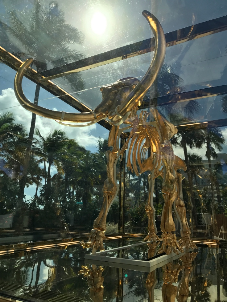 "There's an Elephant in the Room - Damian Hirst's, ""Gone, But Not Forgotten,"" at the Faena Hotel in Miami, Florida"