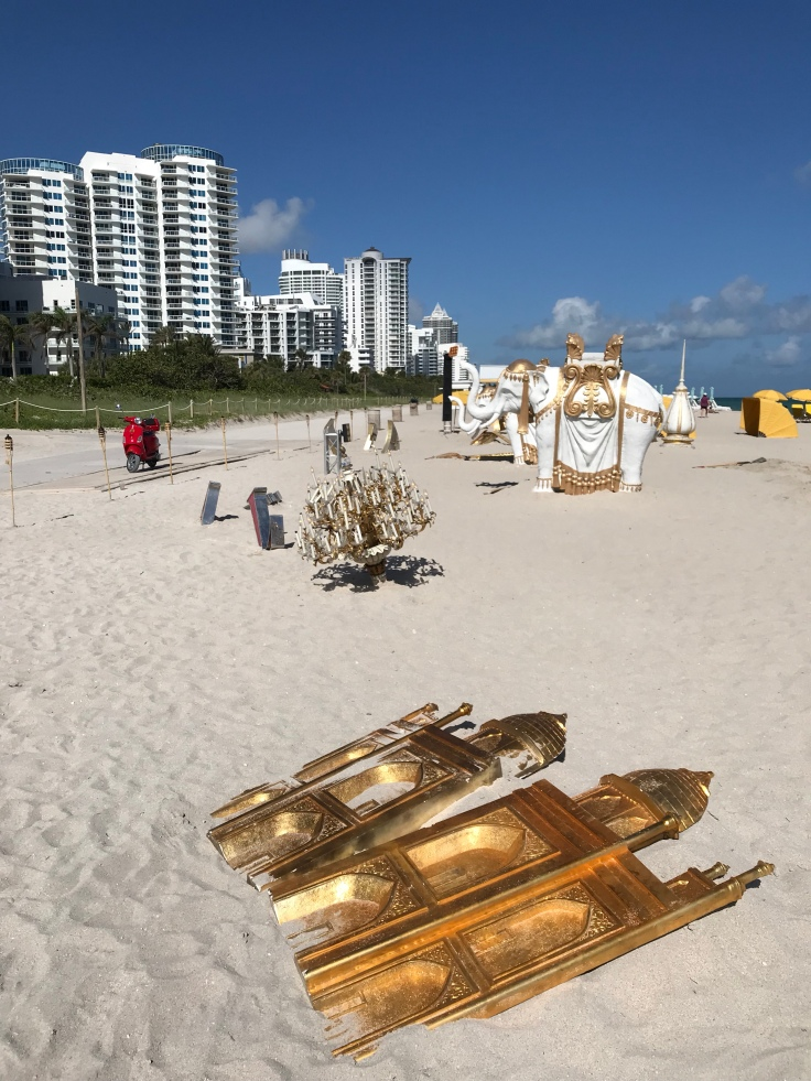 "Beachside Gambling Addiction - ""The Sinking of the Taj Mahal,"" by Peter Tunney at Faena Beach in Miami, Florida"