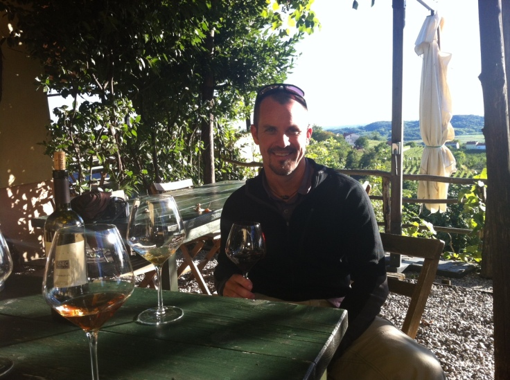 Enjoying a Glass of Fine Slovenian Wine in the Goriška Brda Region - Photo Courtesy of Matt Holmes