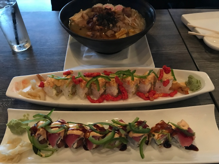 Is it Hot in Here or is it Just You? Sushi Confidential in Campbell, California Serves Up Some Heat - A Bowl of Tonkatsu Ramen, a Flamin' Hot Cheetos Roll and a Shishito Kamikaze Roll