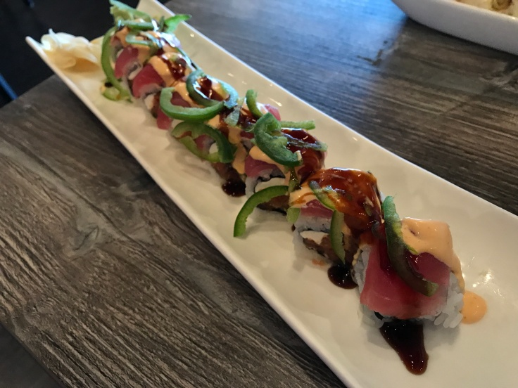 Blisters that Feel Good - The Shishito Kamikaze Roll at Sushi Confidential in Campbell, California