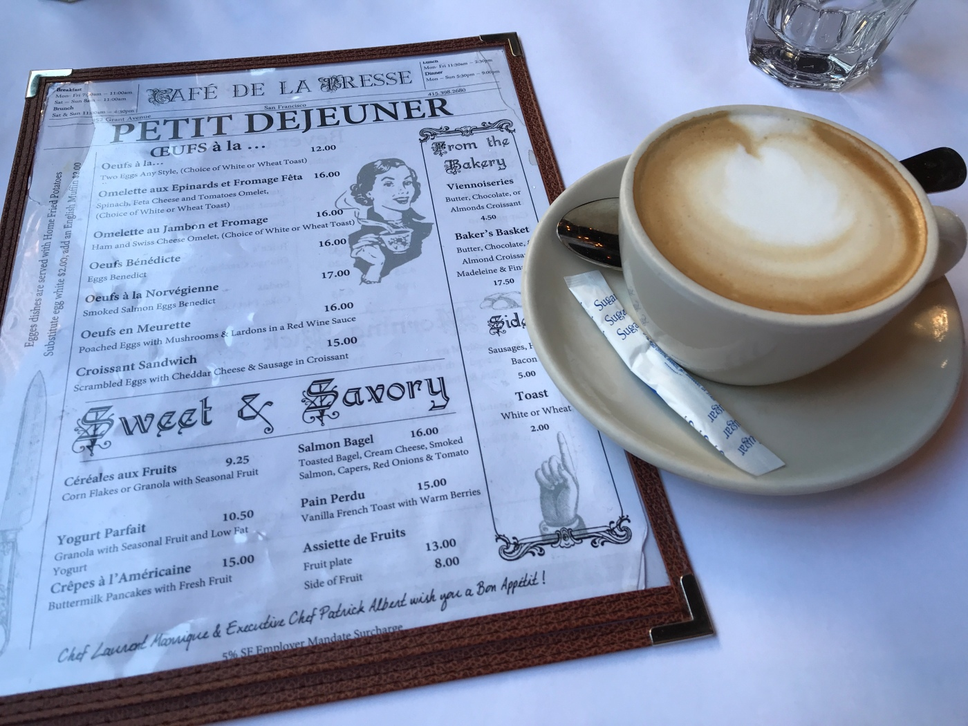 Press Pause - A Cappuccino and a Copy of the Menu is All You Need to Hit the Reset Button at Café de la Presse in San Francisco, California