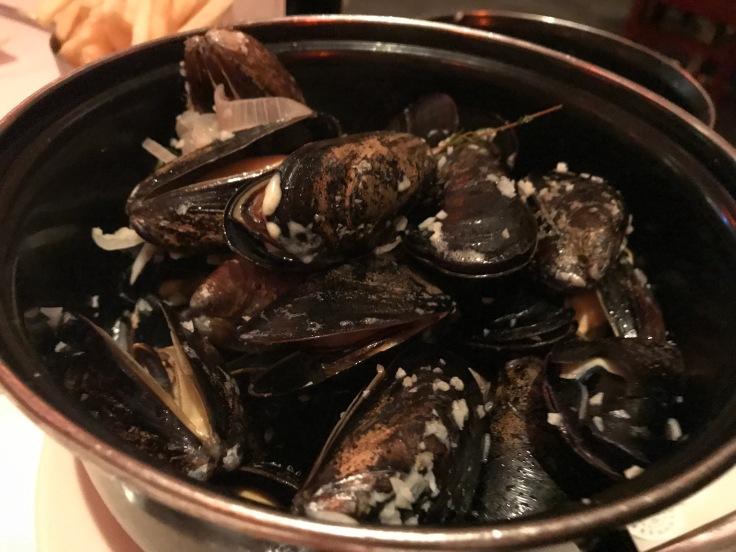 Moules Marinières (Mussels in a White Wine Sauce) at La Bohème in Palo Alto, California