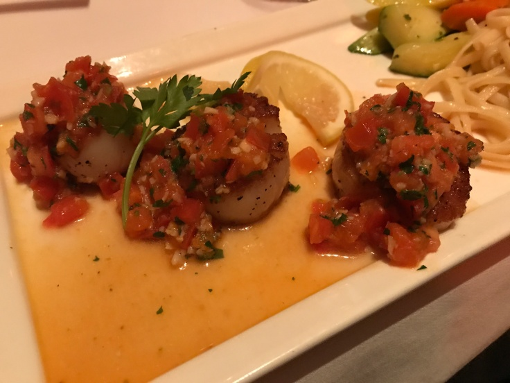 The Sea Scallop (Saint-Jacques à la Provençale) Dish at La Bohème in Palo Alto, California