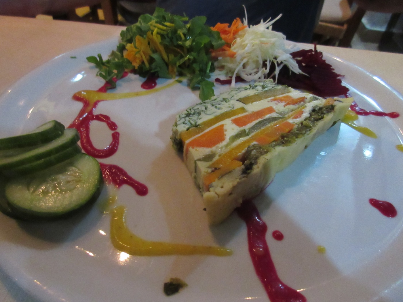 Galante - A Layered Tower of Cheese and Fresh Local Vegetables at El Romero Eco Restaurant in Las Terrazas, Cuba