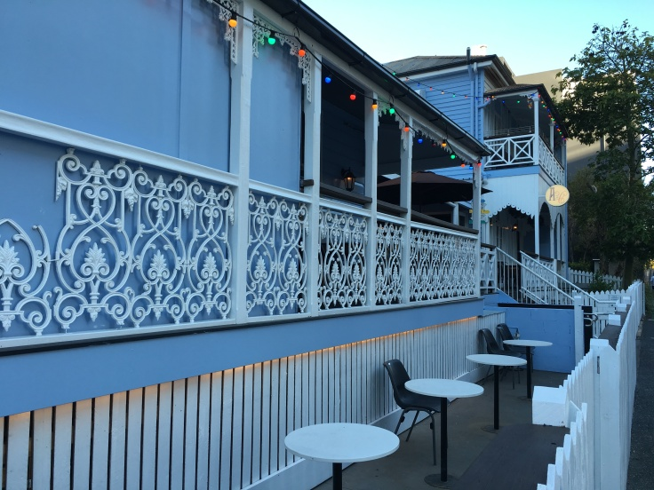 The Quaint Queenslander Veranda at Alfred & Constance in Brisbane, Australia's Fortitude Valley