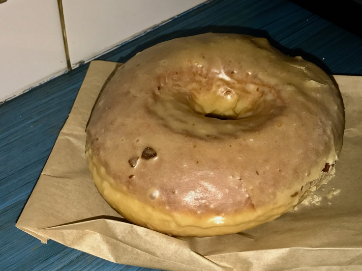 A photo of a chestnut glazed donut at Doughnut Vault in Chicago, Illinois.