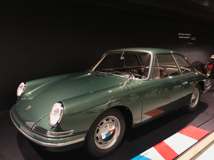 An emerald green 1959 Porsche Boxer 754-T7 on display at the Porsche Museum in Stuttgart, Germany. Photo Courtesy of FoodWaterShoes