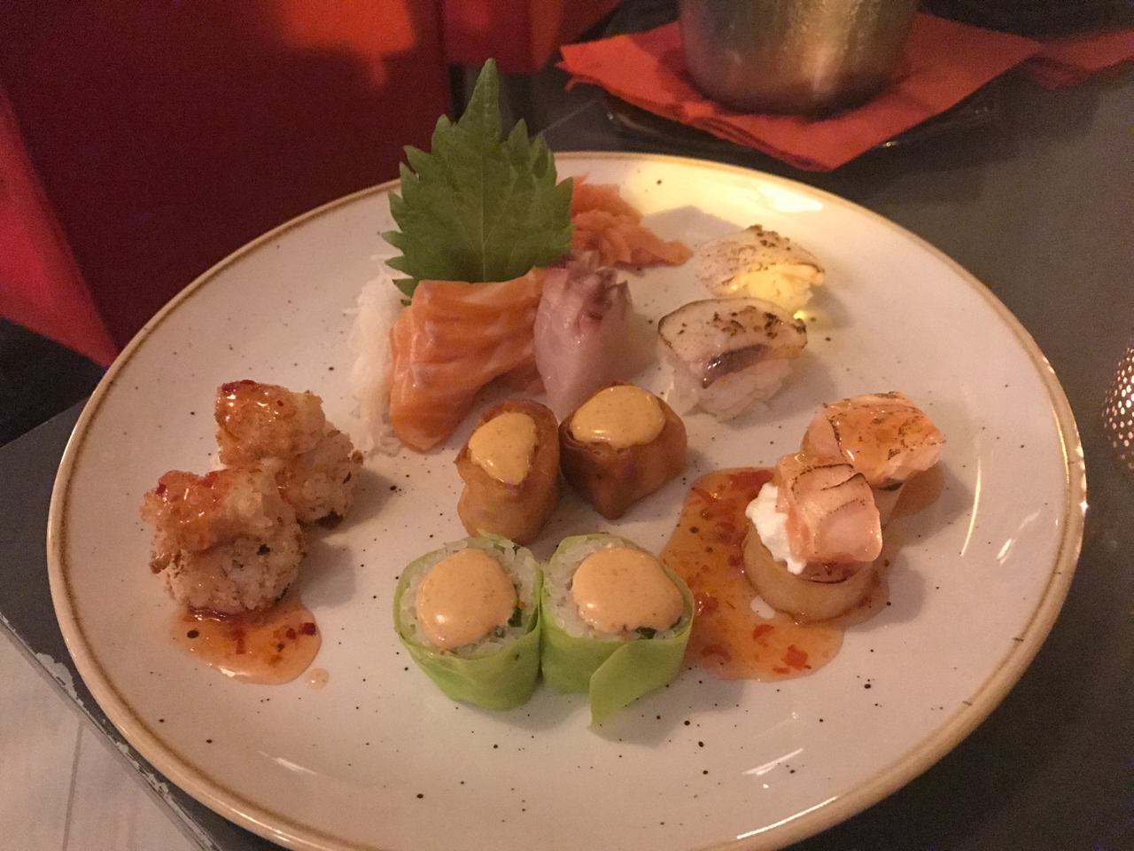 A plate filled with omakase at Confraria Sushi, a Japanese restaurant in Cascais, Portugal. Photo Courtesy of FoodWaterShoes