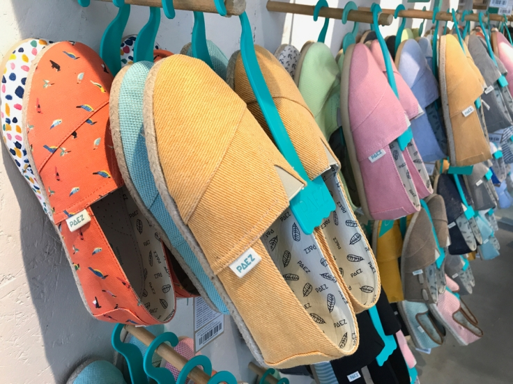 Brightly colored hues and pretty patterns adorn espadrilles at Paez in Porto, Portugal. Photo Courtesy of FoodWaterShoes