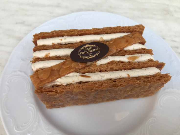 A slice of mille-feuille at Café Pouchkine in Paris, France. Photo Courtesy of FoodWaterShoes